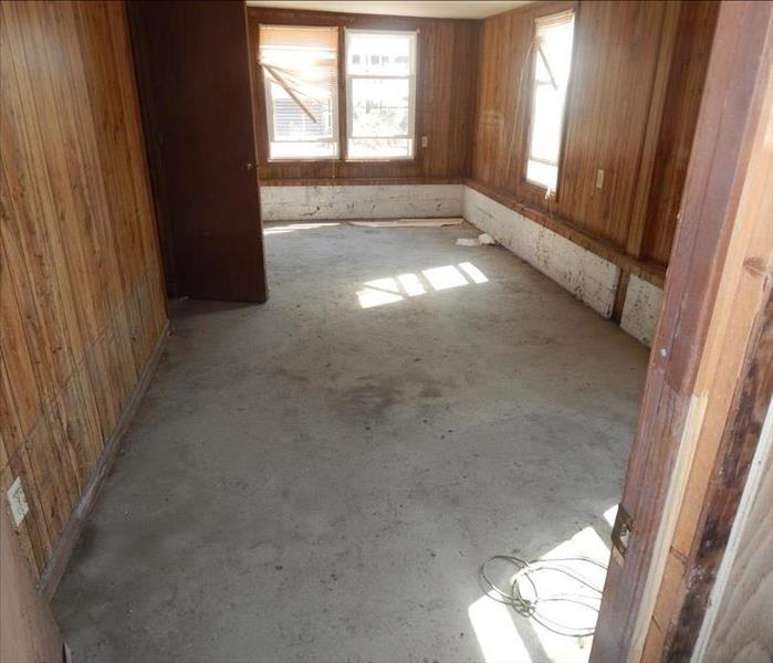 room with all floor removed