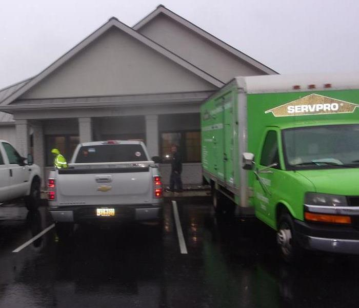 Our Crew arriving onsite to a Water Damage